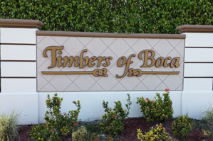Timbers of Boca sign on Lyons Road